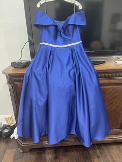 Blue Size 12 Train Dress on Queenly
