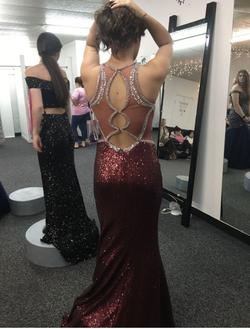 Tiffany Designs Red Size 2 Mermaid Dress on Queenly