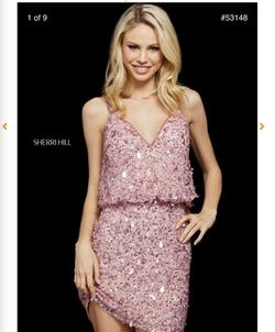 Sherri Hill Pink Size 0 Homecoming Cocktail Dress on Queenly