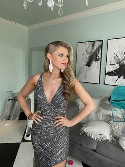 Jovani Silver Size 2 Custom Straight Dress on Queenly