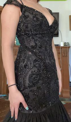 Sherri Hill Black Size 8 Prom Mermaid Dress on Queenly