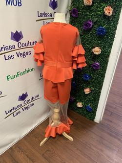 LarissaCoutureLV Orange Size 00 Jumpsuit Dress on Queenly