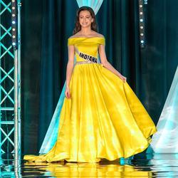 Ashley Lauren Yellow Size 00 Belt A-line Dress on Queenly