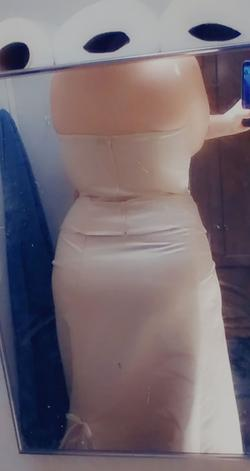 Gold Size 12 Straight Dress on Queenly