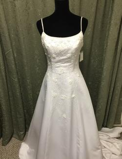 Christian Michelle White Size 8 Train Dress on Queenly
