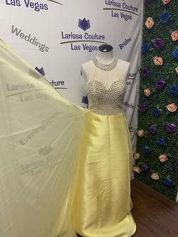 Cinderella Yellow Size 2 Tulle Silk A-line Dress on Queenly