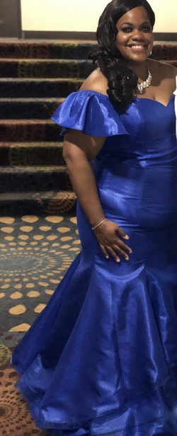 Blue Size 20 Mermaid Dress on Queenly