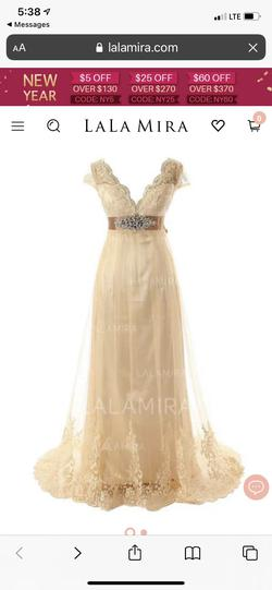 Nude Size 16 A-line Dress on Queenly
