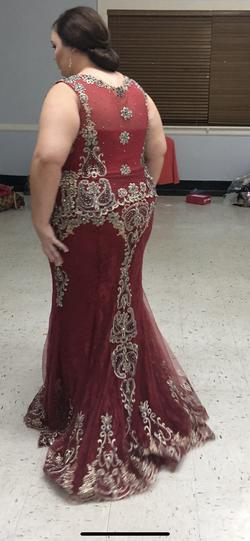 Red Size 20 Mermaid Dress on Queenly