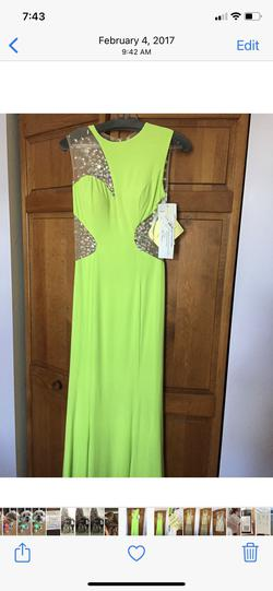 Green Size 10 Straight Dress on Queenly
