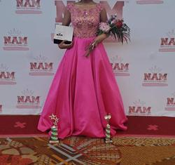 Sherri Hill Pink Size 6 Ball gown on Queenly