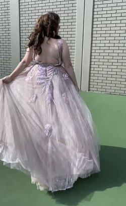 Mac Duggal Pink Size 16 Tall Height A-line Dress on Queenly