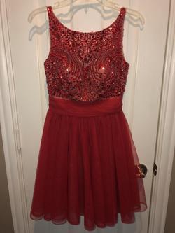 Sherri Hill Red Size 2 Cocktail Dress on Queenly