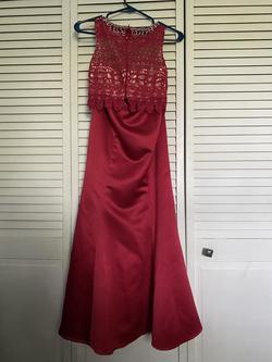 Red Size 2 Mermaid Dress on Queenly