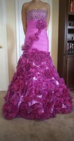 Jovani  Purple Size 00 Prom Strapless Mermaid Dress on Queenly