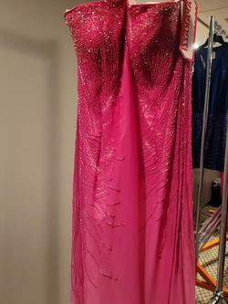 Style P5021 Mori Lee Pink Size 24 Plus Size Tall Height Straight Dress on Queenly