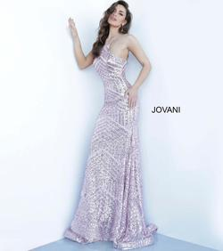Style 4132 Jovani Yellow Size 8 Pattern Mermaid Dress on Queenly