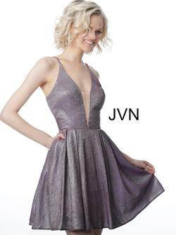 Style JVN2173 Jovani Purple Size 8 Flare Prom Sorority Formal Cocktail Dress on Queenly