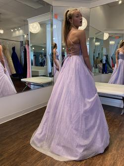 Sherri Hill Purple Size 00 Shiny Prom Ball gown on Queenly
