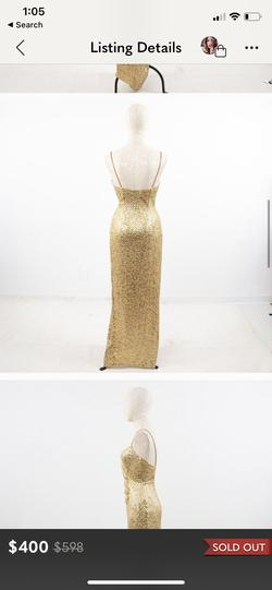 Cache Gold Size 2 Short Height A-line Dress on Queenly