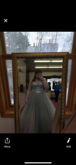 Silver Size 18 Ball gown on Queenly