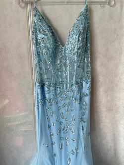 Castle Couture Blue Size 2 Prom Flare Cocktail Dress on Queenly