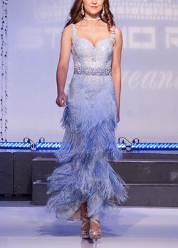 Mac Duggal Blue Size 2 Ombre Pageant Sequin Straight Dress on Queenly