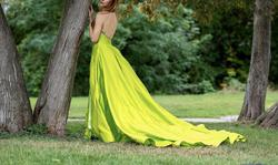 Jovani Green Size 2 Tall Height Lime Ball gown on Queenly