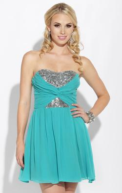 Style 10674867 Josh Prom Blue Size 12 Tall Height Cocktail Dress on Queenly