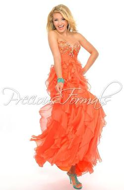 Style P20941 Precious Formals Orange Size 12 Plus Size Tall Height Straight Dress on Queenly