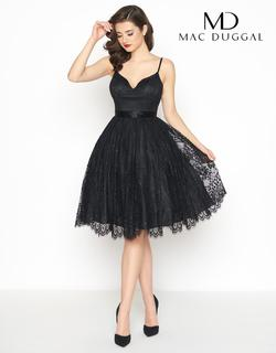 Style 40920R Mac Duggal Black Size 2 Pockets Prom Sorority Formal Cocktail Dress on Queenly
