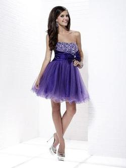 Style 46793 Tiffany Designs Purple Size 12 Tall Height Homecoming Cocktail Dress on Queenly