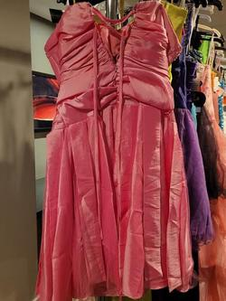 Style 91043 Aspeed USA Pink Size 12 Strapless Plus Size Cocktail Dress on Queenly