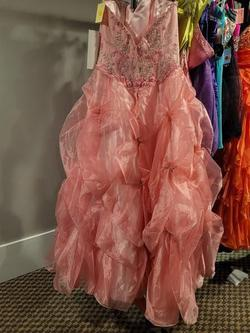 Style Madison James Q040 Light Pink Size 12 Ball gown on Queenly