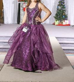 Tiffany Designs Purple Size 8 Ball gown on Queenly