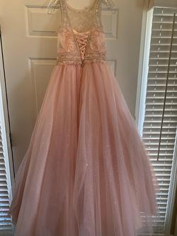 Tiffany Pink Size 14 Corset Ball gown on Queenly