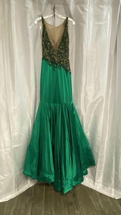 Sherri Hill Green Size 6 Jewelled Mermaid Dress on Queenly