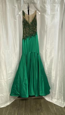 Sherri Hill Green Size 6 Sequin Mermaid Dress on Queenly