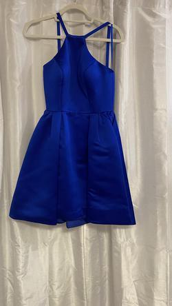 Ashley Lauren Blue Size 4 Cocktail Dress on Queenly