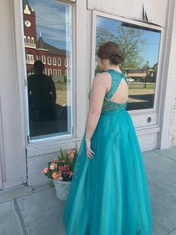 Green Size 16 Train Dress on Queenly
