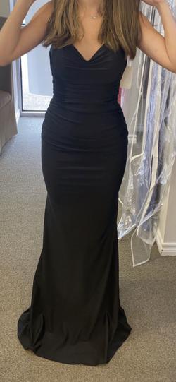 La Femme Black Size 0 Mermaid Dress on Queenly