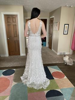 Custom White Size 4 Prom Pageant Showstopper Straight Dress on Queenly