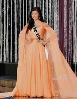 Sherri Hill Orange Size 6 Straight Dress on Queenly