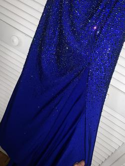 Sherri Hill Blue Size 2 Short Height Mermaid Dress on Queenly