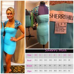 Sherri Hill Blue Size 8 Jersey Cocktail Dress on Queenly