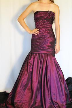 Tony Bowls Purple Size 0 Shiny Ball gown on Queenly