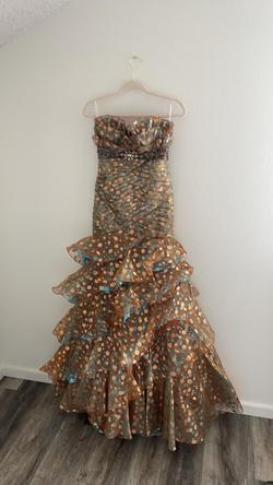 Tony Bowls Gold Size 2 Sequin Mermaid Dress on Queenly