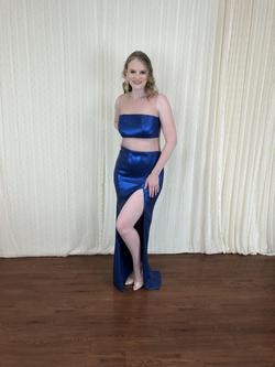 Larissa Couture LV Blue Size 10 Side slit Dress on Queenly