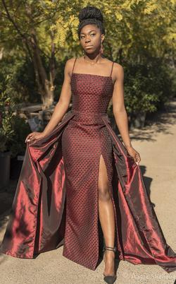 Larissa Couture LV Red Size 4 Side slit Dress on Queenly