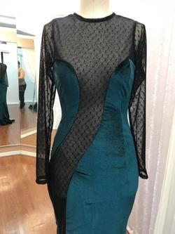 Larissa Couture LV Green Size 6 Silk A-line Dress on Queenly